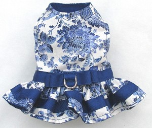 Harness Dress Blue Orient