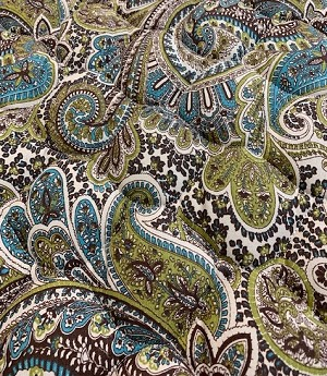 Double Quilted Mat Blue Paisley