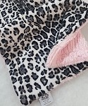 Black Leopard with Pink Binkie Blanket