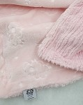 Pink Sheep Embossed Binkie Blanket