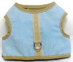 Blue Suede with beige binding harness