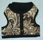 Brown Paisley Walking Harness