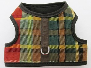 Plaid Denim Walking harness