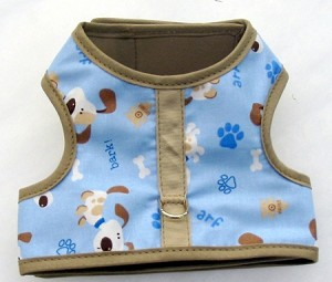 Arf and Bark with Beige Binding Walking Harness