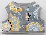 Gray and Yellow Mod Flowers Harness