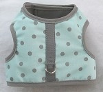 Mint with Gray Dots Harness