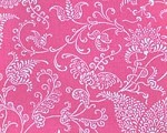 Double Quilted Mat Pink Paisley