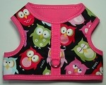 Owls with Pink Binding Walking Harness
