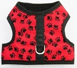 Red with Black Paws Walking harness